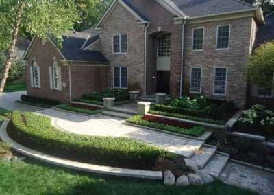 pavers and natural rock combo