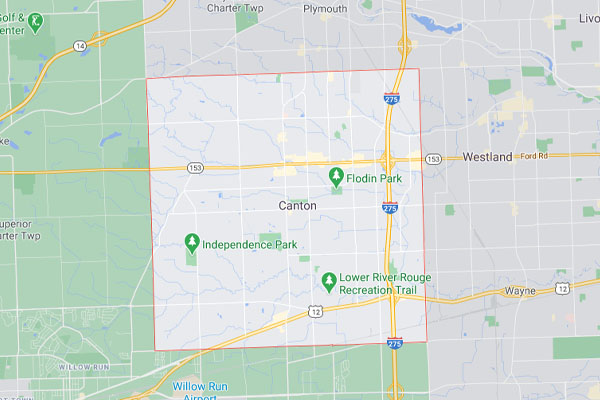 Map of Canton MI