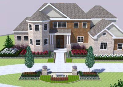 3d landscape residential
