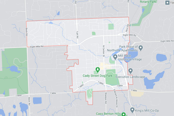 Northville MI map