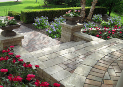paver front walkway steps