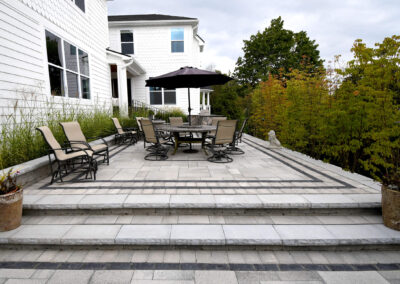 patio pavers and seating