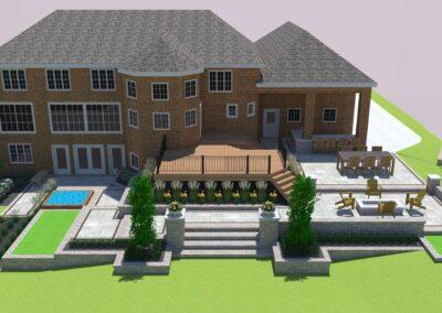 3d backyard landscape design