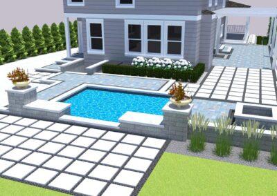 backyard design small pool